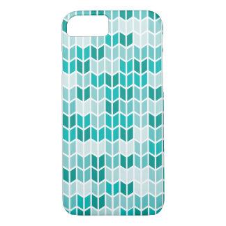 Coque iPhone 8/7 Motif géométrique turquoise