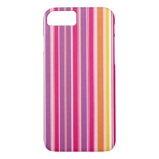 Coque iPhone 8/7 Motif Girly coloré pourpre orange rose de rayure