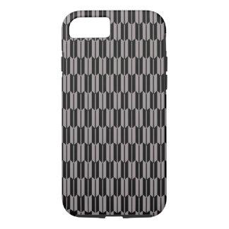 Coque iPhone 8/7 Motif gris de vecteur et noir géométrique