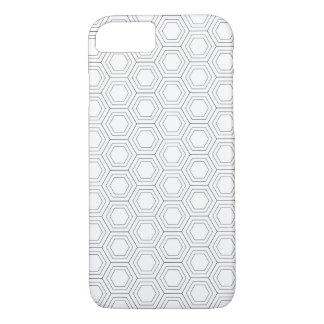 Coque iPhone 8/7 Motif hexagonal noir et blanc - cas de l'iPhone 7