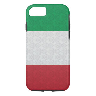Coque iPhone 8/7 Motif italien de damassé de drapeau