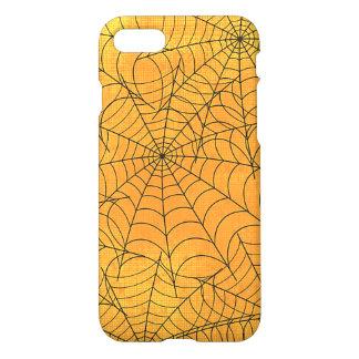 Coque iPhone 8/7 Motif jaune drôle de toiles d'araignée
