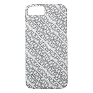 Coque iPhone 8/7 Motif noir et blanc de triangle - cas de l'iPhone