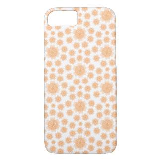 Coque iPhone 8/7 Motif radial de fleur de pêche - cas /Skin de
