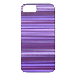Coque iPhone 8/7 Motif rayé rose bleu pourpre