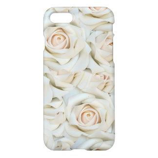 Coque iPhone 8/7 Motif romantique de roses blancs