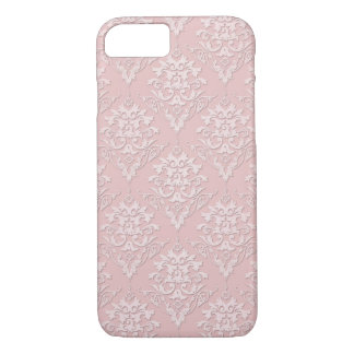 Coque iPhone 8/7 Motif rose assez Girly de damassé