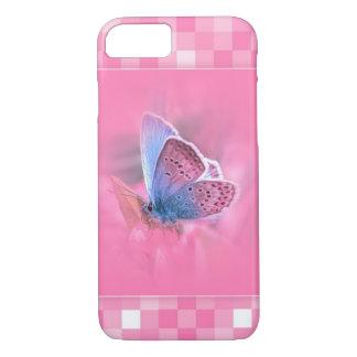 Coque iPhone 8/7 Motif rose avec un beau papillon de ver