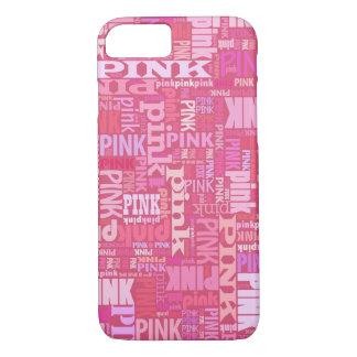 Coque iPhone 8/7 Motif rose foncé des textes pour les amants roses