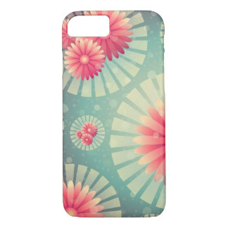 Coque iPhone 8/7 Motif rouge et vert floral
