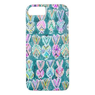Coque iPhone 8/7 Motif tribal tropical d'ananas d'aquarelle
