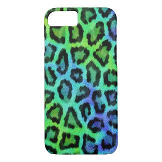 Coque iPhone 8/7 Motif vert et bleu à la mode de léopard