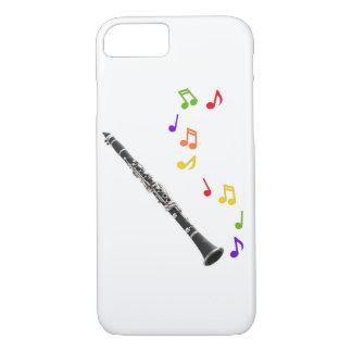 Coque iPhone 8/7 Musique colorée de clarinette