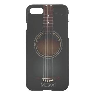 Coque iPhone 8/7 Musique noire de guitare acoustique