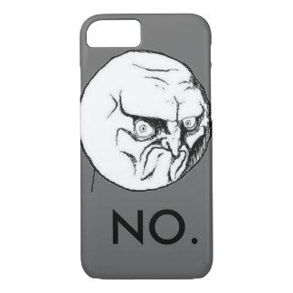 """Coque iPhone 8/7 """"NON"""" drôle gris de meme"""