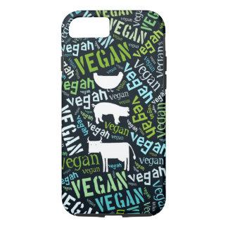 Coque iPhone 8/7 Nuage végétalien de mot avec une vache, le porc et