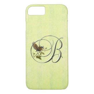 Coque iPhone 8/7 Oiseau chanteur du monogramme B
