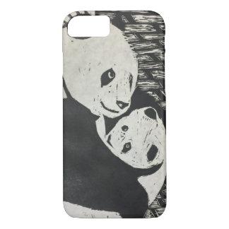 Coque iPhone 8/7 Panda de mère - ours panda avec l'petit animal -