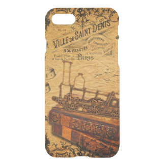 Coque iPhone 8/7 Papier peint vintage de train de Steampunk