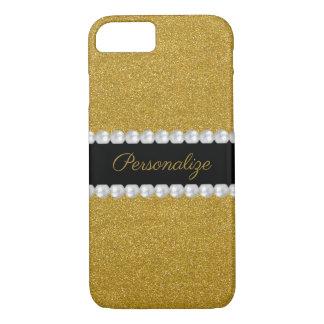 Coque iPhone 8/7 Parties scintillantes et perles scintillantes