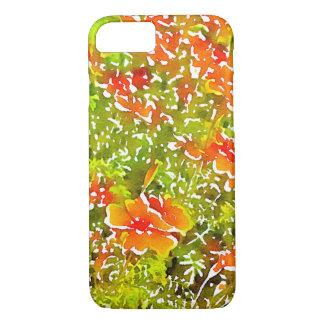 Coque iPhone 8/7 Pavots d'aquarelle