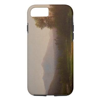 Coque iPhone 8/7 Paysage du fleuve Hudson, c.1860-5 (huile sur la