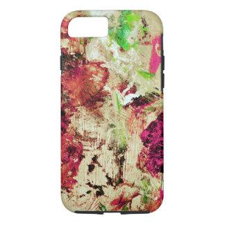 Coque iPhone 8/7 Peignez bois abstrait de palette d'éclaboussure le