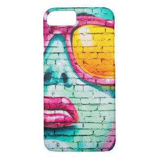 Coque iPhone 8/7 Peinture d'art de rue de filles de graffiti