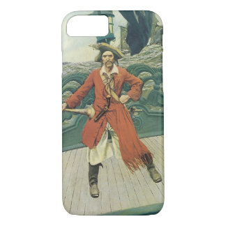 Coque iPhone 8/7 Pirates vintages, capitaine Keitt par Howard Pyle