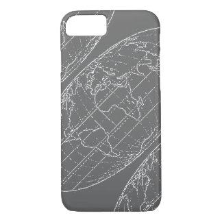 Coque iPhone 8/7 planisphere/cartes simples