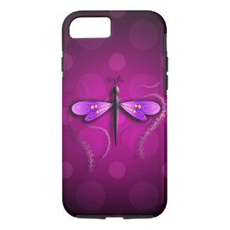 Coque iPhone 8/7 Pois rose de mouche de dragon !