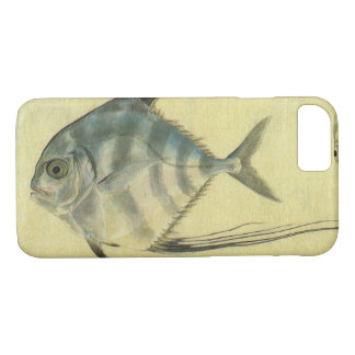 Coque iPhone 8/7 Poissons africains vintages de Pompano, Threadfin