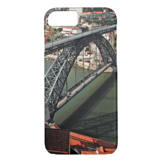 Coque iPhone 8/7 Pont en fer de ville de Porto, Portugal