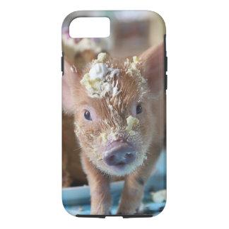 Coque iPhone 8/7 Porc drôle et le gâteau