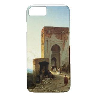 Coque iPhone 8/7 Porte de Justice, Alhambra, Grenade (huile sur la