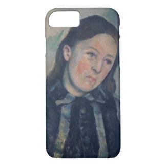 Coque iPhone 8/7 Portrait de Madame Cezanne avec les cheveux