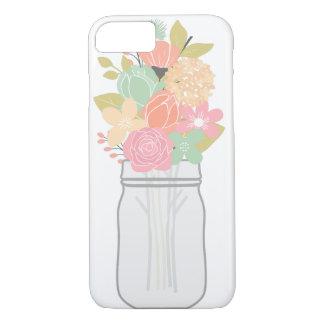 Coque iPhone 8/7 Pot de cas de téléphone de fleurs
