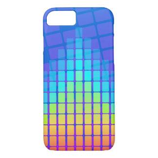 Coque iPhone 8/7 Pyramide colorée par arc-en-ciel des rectangles