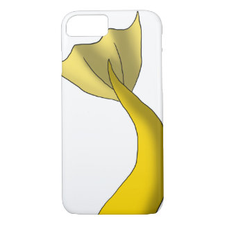 Coque iPhone 8/7 Queue jaune d'or de sirène