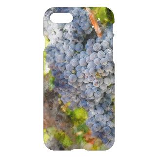 Coque iPhone 8/7 Raisins de vin rouge sur la vigne