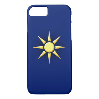 Coque iPhone 8/7 Rayon de soleil simple bleu-foncé