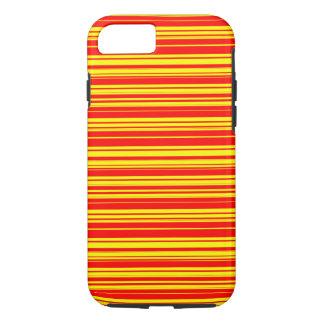 Coque iPhone 8/7 Rayures jaunes et lues de vecteur