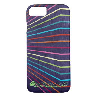 Coque iPhone 8/7 Rayures multicolores sur le pourpre