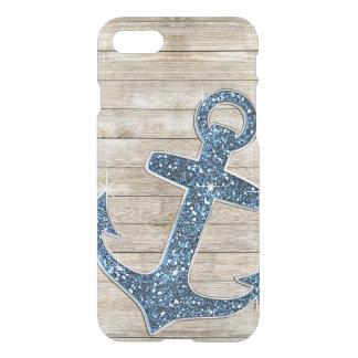 Coque iPhone 8/7 Regard pourpre bleu nautique Girly d'ancre et en