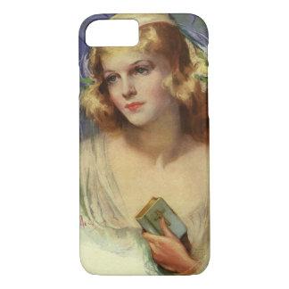 Coque iPhone 8/7 Religion vintage de christianisme, jeune mariée