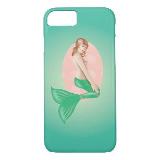Coque iPhone 8/7 Rétro cas de téléphone de sirène