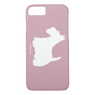 Coque iPhone 8/7 Rose de Terrier d'écossais de Wedgewoof