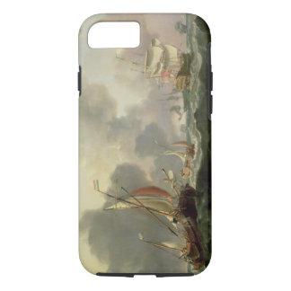 Coque iPhone 8/7 Roses néerlandais et une frégate britannique dans