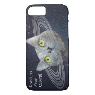 Coque iPhone 8/7 Salutations de cas drôle de téléphone de Caturn de