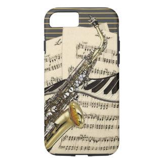 Coque iPhone 8/7 Saxophone et musique de piano